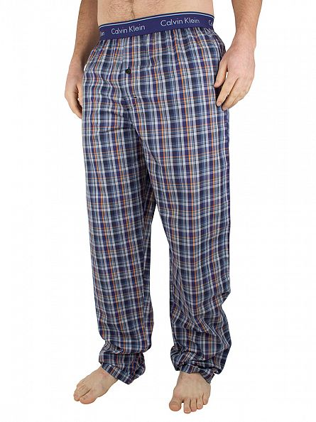 Calvin Klein Eric Plaid Blue Checked Pyjama Bottoms