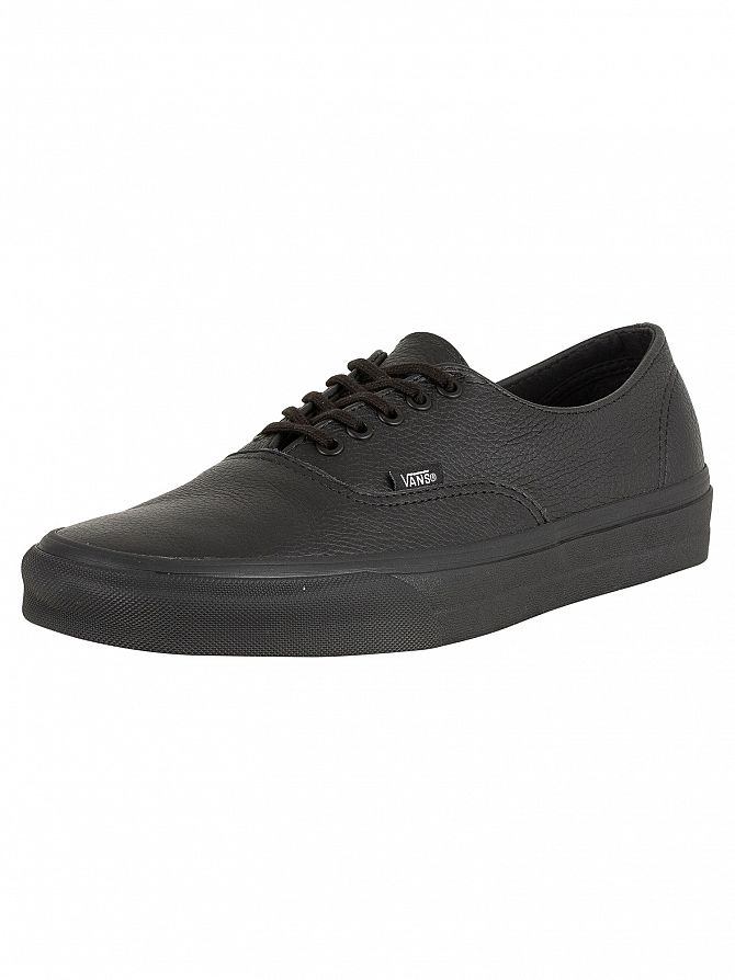 Vans Black/Black Authentic Decon Premium Leather Trainers