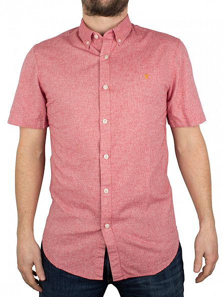 Farah Vintage Rectory Pink Steen Slim Fit Shirt