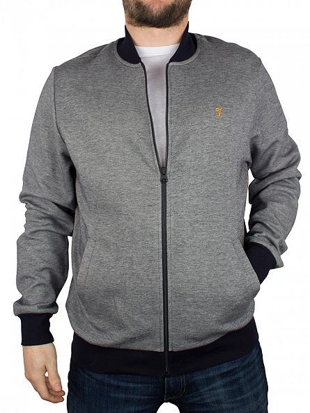Farah Vintage True Navy Guildford Zip Jacket