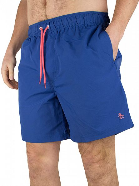 Original Penguin True Blue Daddy Logo Swim Shorts