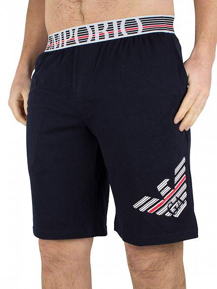 Emporio Armani Marine Large Logo Pyjama Shorts