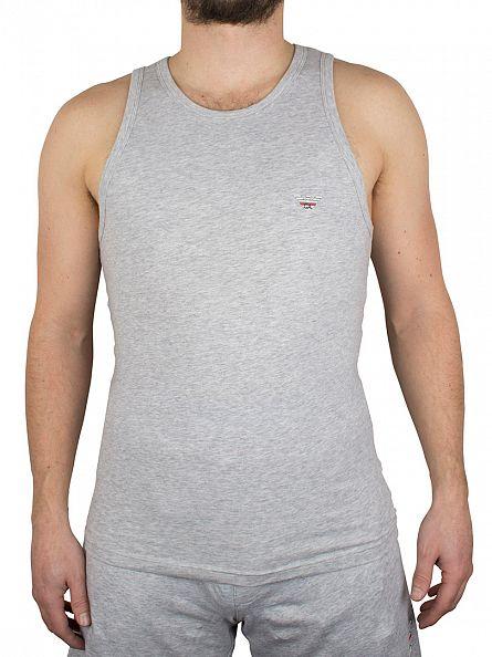Emporio Armani Grey Melange Logo Vest
