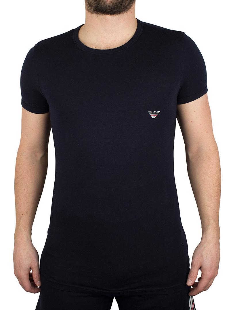 emporio armani marine logo tshirt