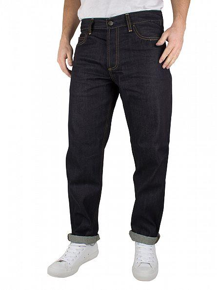 Carhartt WIP Blue Denim Texas Pant II Blue Rigid Jeans