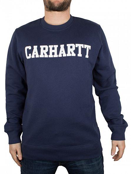 Carhartt WIP Blue/White College Logo Sweatshirt