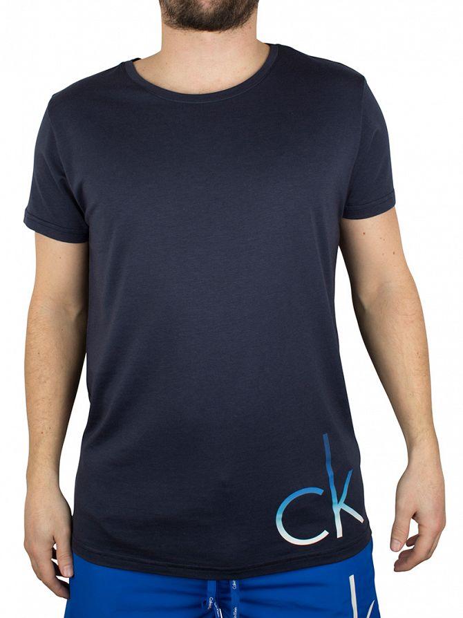Calvin Klein Navy/Ombre Blue CK Logo T-Shirt