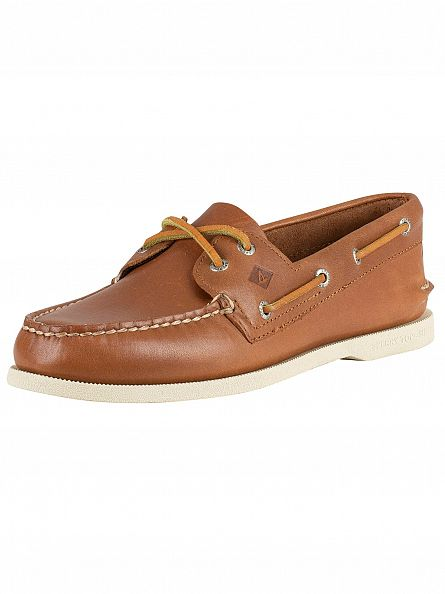 Sperry Top-Sider Tan Authentic 2 Eye Boat Shoes