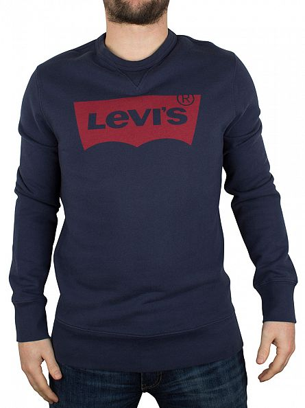 Levi's Blue/Red Bat Wing Logo Sweatshirt