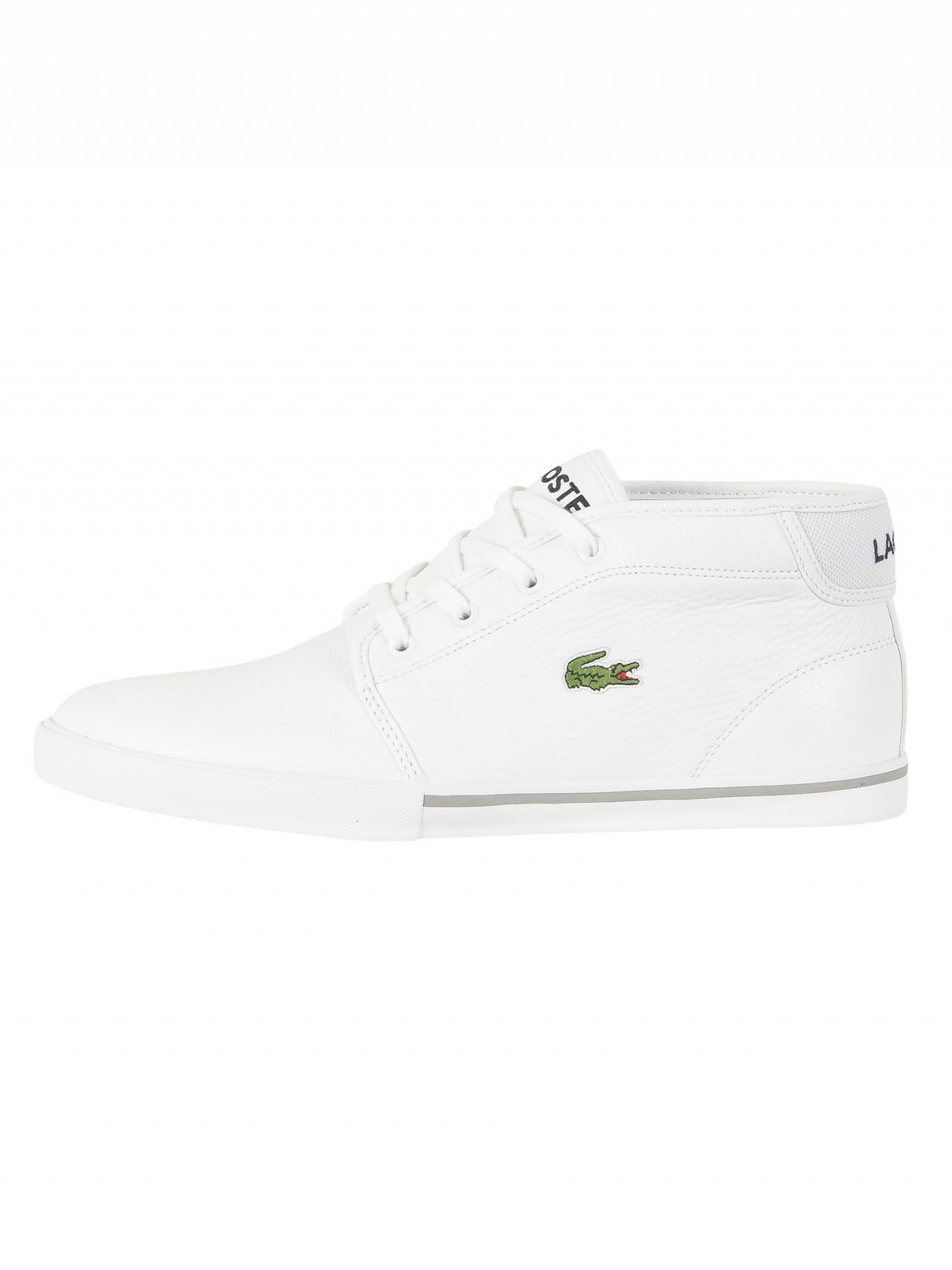 f829c85af2e6b Lacoste White/White Ampthill LCR3 SPM Trainers