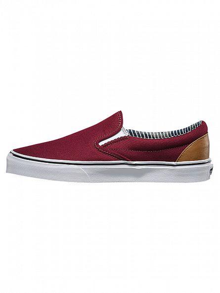 Vans Port Royale/Stripe Denim C&L Classic Slip-on Trainers