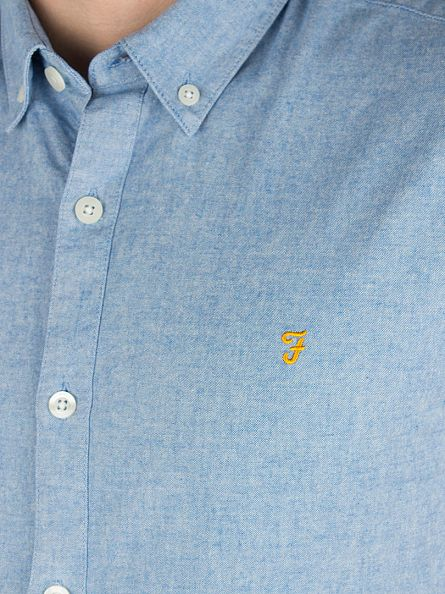 Farah Vintage Sierra Blue Steen Slim Fit Shirt