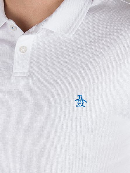 Original Penguin Bright White Winston Slim Fit Logo Polo Shirt