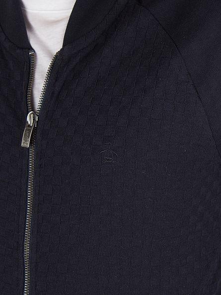 Original Penguin Dark Sapphire Geo Jacquard Zip Track Jacket