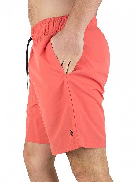Original Penguin Spiced Coral Daddy Logo Swim Shorts