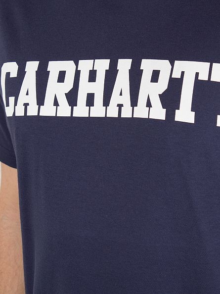 Carhartt WIP Blue/White College Logo T-Shirt