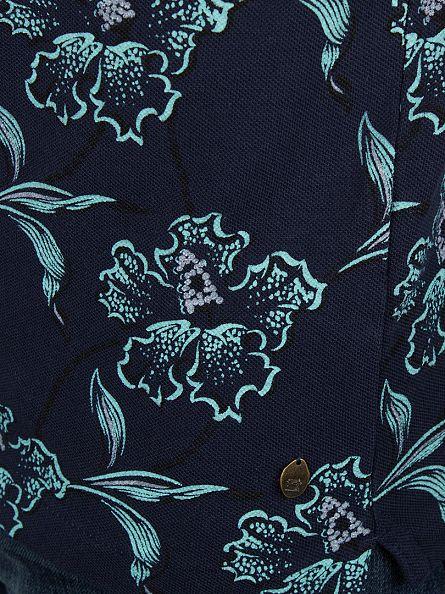 Scotch & Soda Dessin A Classic Dyed Pique Floral Polo Shirt