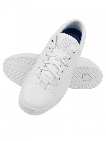 K-Swiss White/White Washburn Trainers