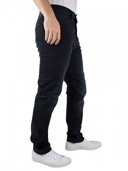 Levi's Dark Wash Line 8 Slim Fit Taper II Stormy Jeans