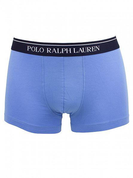 Polo Ralph Lauren Pink/Light Blue/Navy 3 Pack Classic Stretch Cotton Trunks