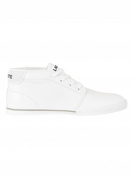 Lacoste White/White Ampthill LCR3 SPM Trainers