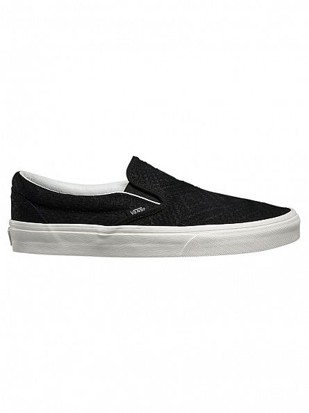 Vans Black Classic Slip-On Braided Suede Trainers