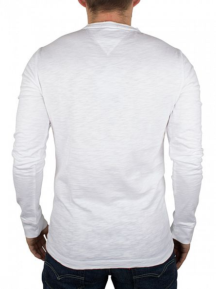 Hilfiger Denim Classic White Basic Longsleeved Henley T-Shirt