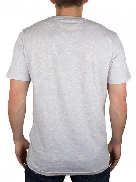Carhartt WIP Ash Heather/Blue College Logo T-Shirt