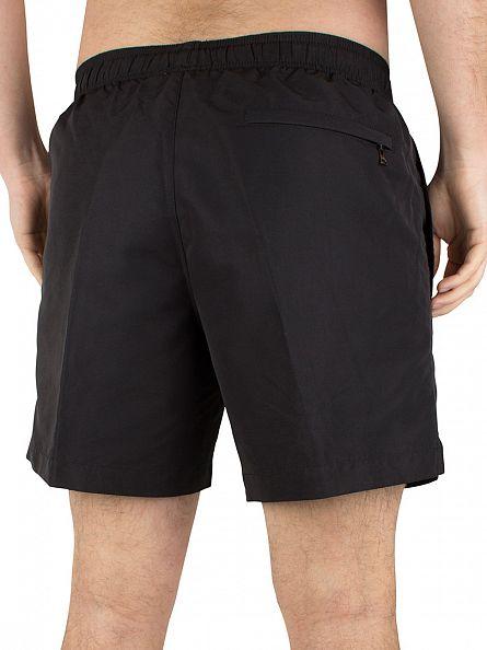 Calvin Klein Black/White CK Drawstring Swim Shorts