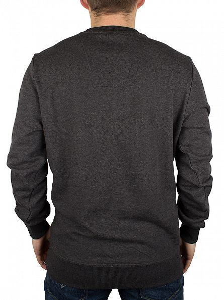 G-Star Black Heather Resap Graphic Marled Sweatshirt