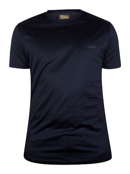 Vivienne Westwood Navy Plain Logo T-Shirt