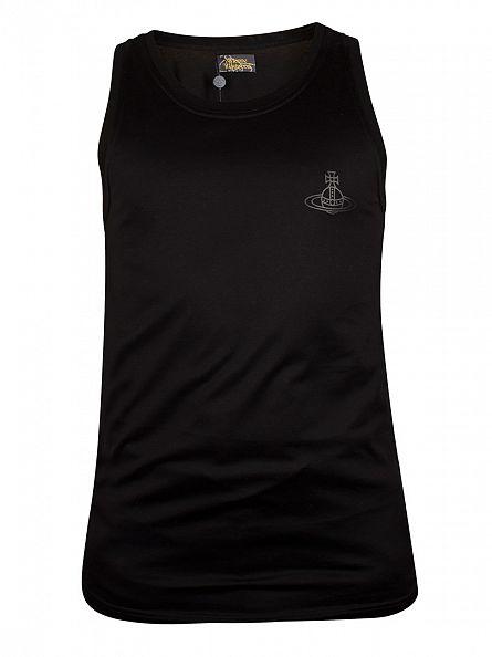 Vivienne Westwood Black Plain Logo Vest