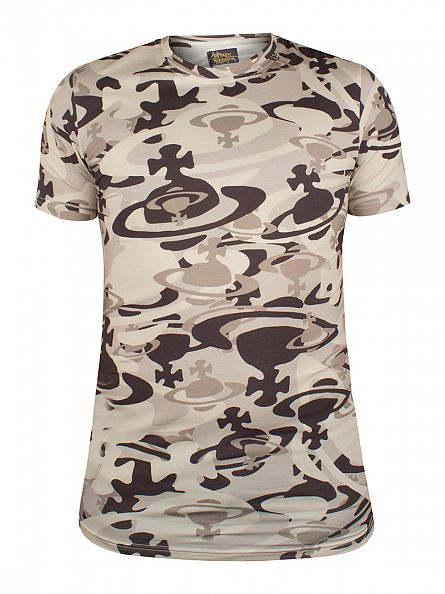Vivienne Westwood Green Camo Logo T-Shirt