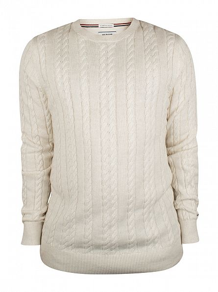 Hilfiger Denim Marshmallow Heather Basic Cable Knit
