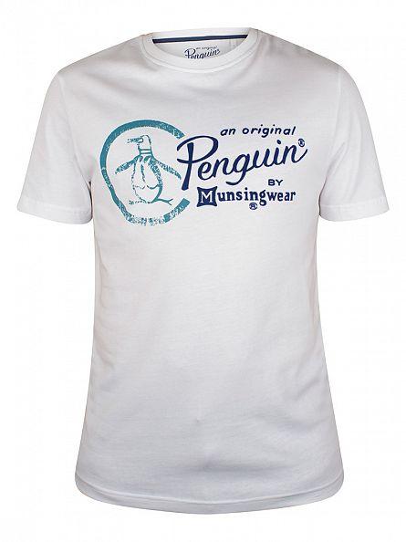 Original Penguin Bright White Script Combo Logo T-Shirt