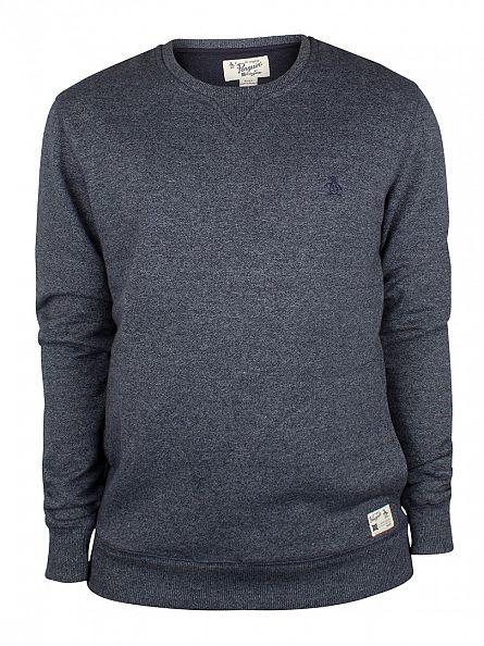 Original Penguin Dark Sapphire Muline Logo Sweatshirt