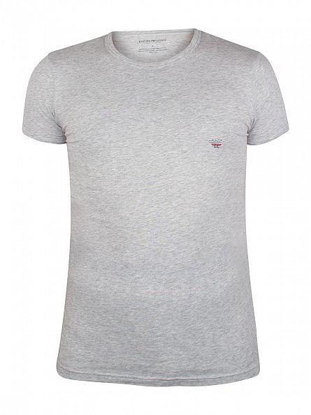 Emporio Armani Grey Melange Logo T-Shirt