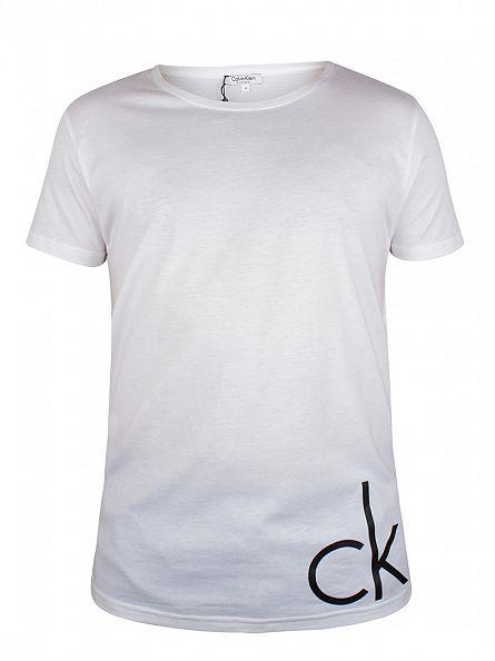 Calvin Klein White/Black CK Logo T-Shirt