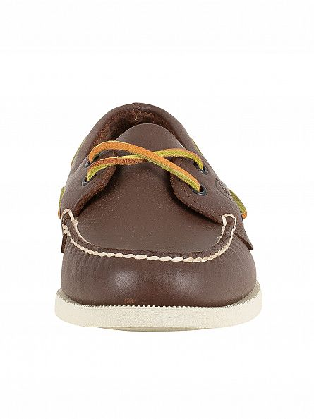 Sperry Top-Sider Brown Authentic 2 Eye Boat Shoes