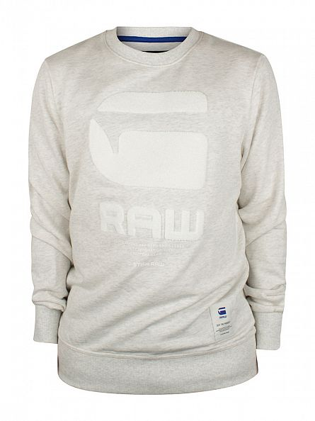 G-Star Milk Heather Resap Graphic Marled Sweatshirt