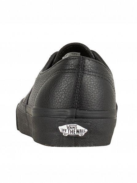 Vans Black/Black Authentic Decon Premium Leather Trainers