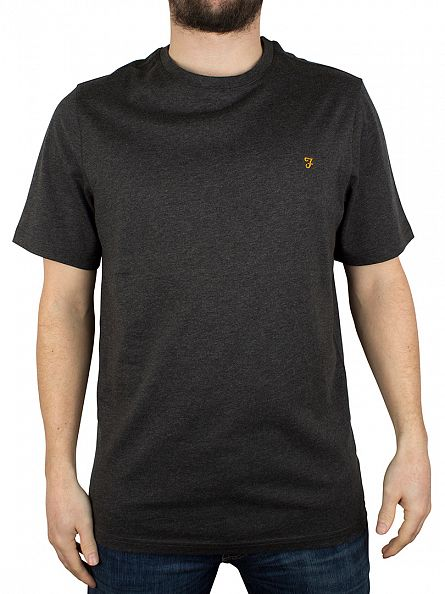 Farah Vintage Grey Marl Denny Marled T-Shirt