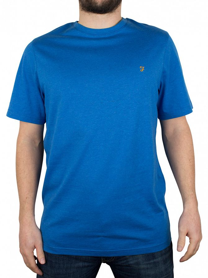 Farah Vintage Sierra Blue Denny Marled T-Shirt