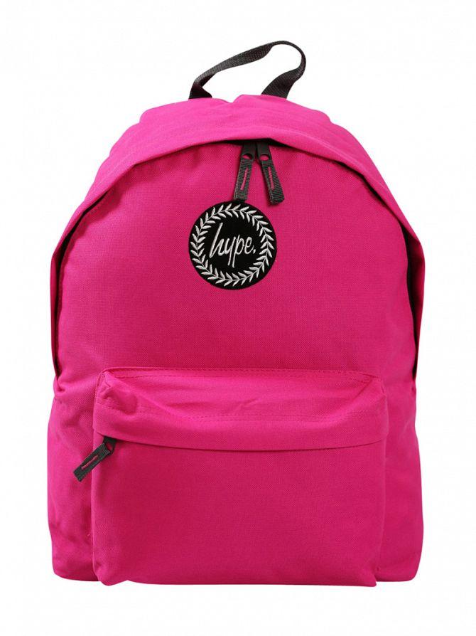 Hype Fuchsia Pink Logo Backpack
