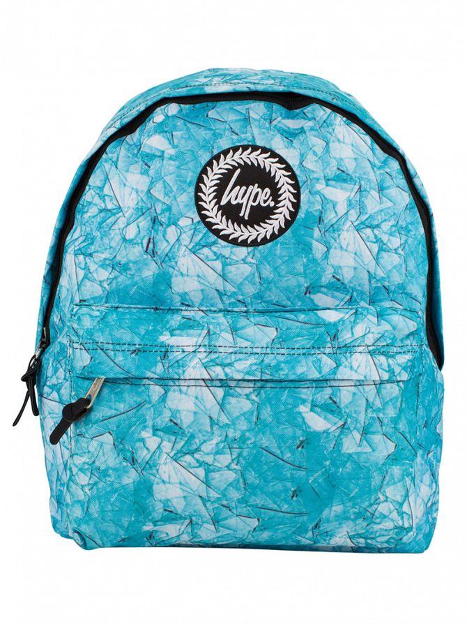 Hype Blue Broken Glass Logo Backpack
