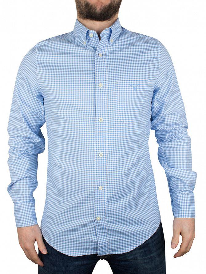 Gant Capri Blue Checked Comfort Oxford Shirt