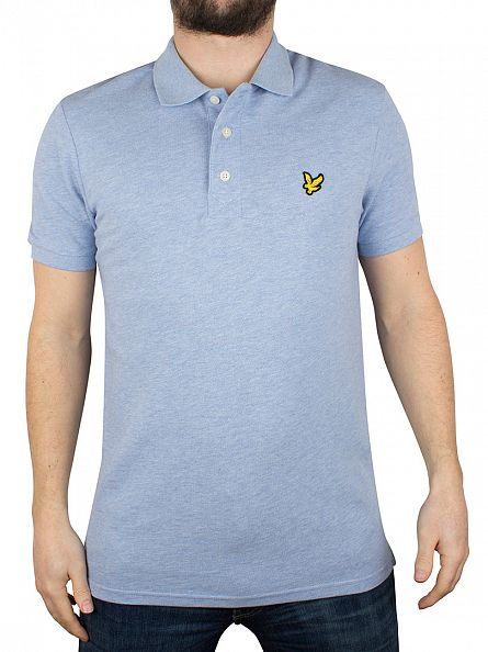 Lyle & Scott Blue Marl Logo Polo Shirt