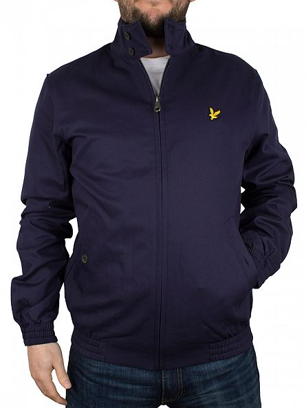 Lyle & Scott Navy Harrington Zip Jacket