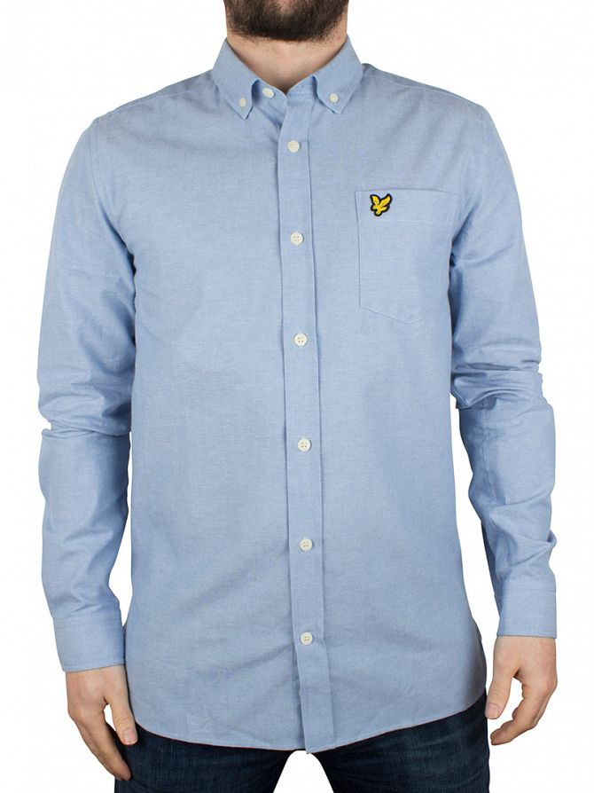 Lyle & Scott Light Blue Chambray Logo Shirt