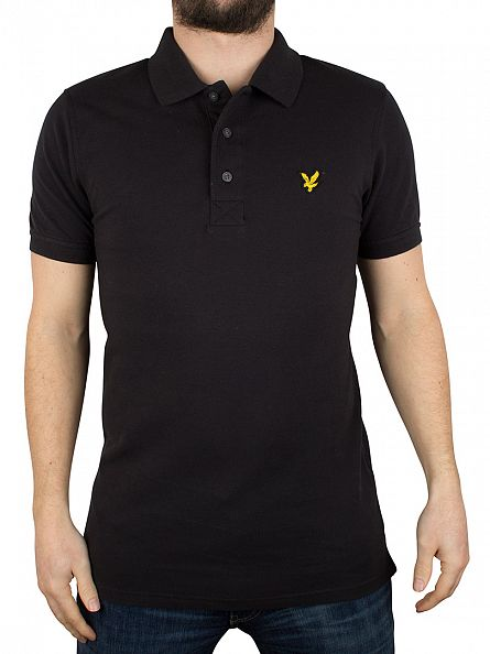Lyle & Scott True Black Logo Polo Shirt